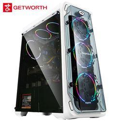 GETWORTH S7 Ordinateur De Bureau Ryzen 7 1700 GeForece GTX1080 240G SSD 1 TB 500 W Livraison LED Fans 8G RAM Win10 PUBG Livraison Gratuite
