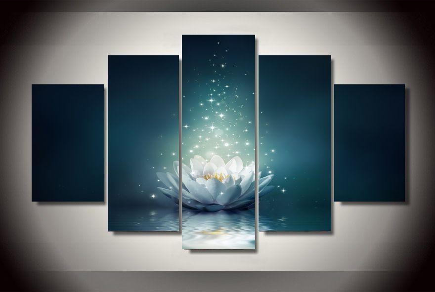 HD с принтом цветка водяной лилии bloom акварель Детская комната Декор печати плаката картина холст Бесплатная доставка