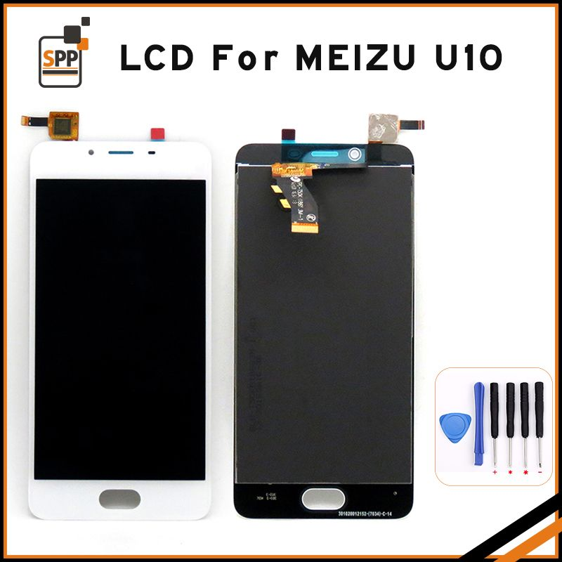 For Meizu U10 Touch Screen Digitizer+LCD Display Replacement For Meizu U10 Black/White/Gold Replacement+Tool