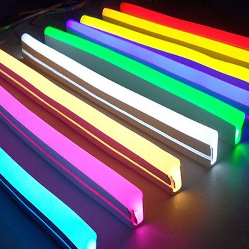 DC 12 V Flexible Led bande néon bande SMD 2835 doux corde barre lumière SMD 2835 silicone caoutchouc Tube extérieur étanche éclairage