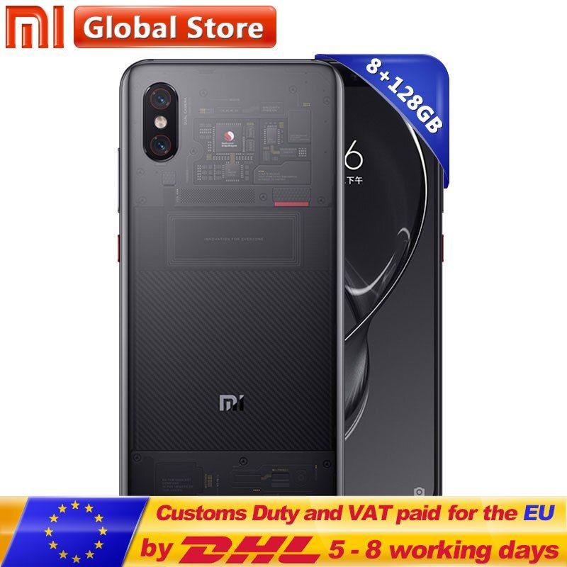 Original Xiaomi Mi 8 Explorer Edition Mi8 8GB 128GB 6.21