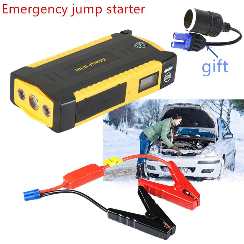 Diesel Petrol Car Jump Starte Pack 12v Jump Starter Power Bank for Car Auto Starting Device for Igniting Battery with Jump Cable