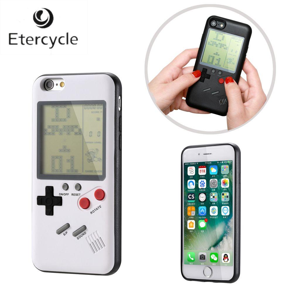 Pour Apple iPhone 6 6 s 7 8 6 Plus 6 s Plus 7 Plus 8 Plus iPhone X Rétro Nintendo Tetris Gameboy Téléphone cas