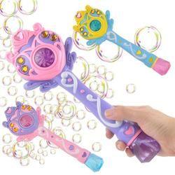 2018 Ringan Musik Sihir Tongkat Elektrik Gelembung Gun Mainan Mesin Gelembung Otomatis Meniup Gelembung Mainan