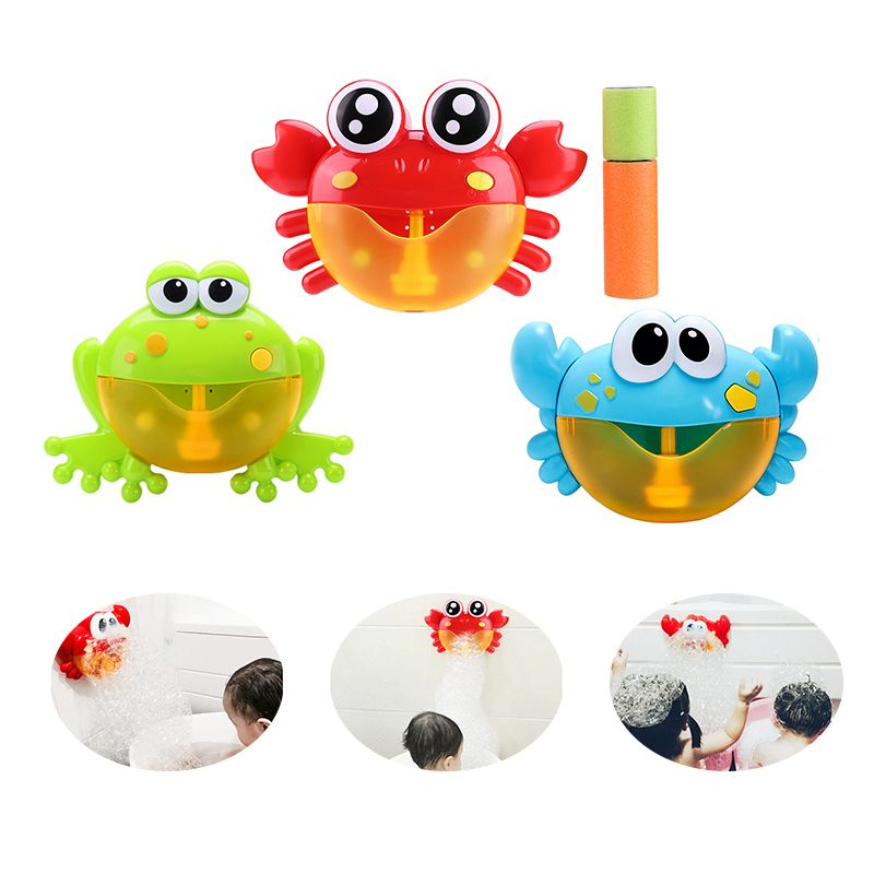 Baby Bath Toys Crab Bubble Maker Machine Bathroom for Kids Electric Automatic Crab Bubble Maker Children Bath Outdoor Toys