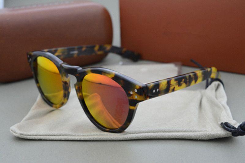 Fashion Round Sunglasses Leonard 2 Italian Women Brand Designer Sunglasses Mirror Coating Sun Glasses Oculos De Sol feminino