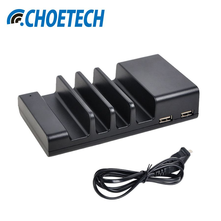 CHOETECH 4 Port USB Desktop Charger Universal Mobile Phone Charging Station Dock For Multiple Devices Smartphone Tablets