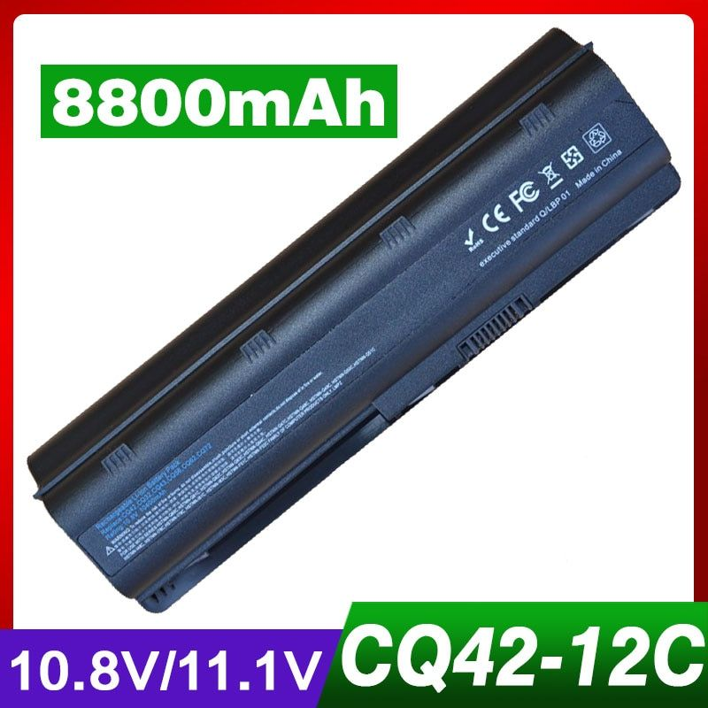 8800mAh laptop battery for HP PAVILION DV7 DM4 DV3 DV5 DV6 G32 G62 G42 G6 G7 for Compaq Presario CQ32 CQ42 CQ43 CQ56 CQ57 CQ62