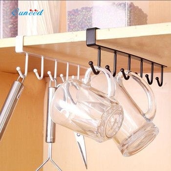 Ouneed Iron Sturdy Kitchen Bedroom Storage Rack Hanging Hook Shelf Dish Hanger Chest Storage 1PC