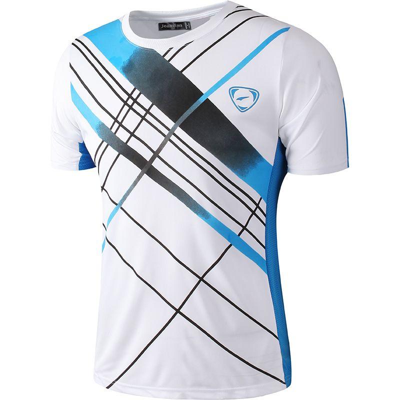Nouveauté 2019 hommes Designer T Shirt décontracté séchage rapide Slim Fit dessus de chemise et t-shirts taille S M L XL LSL133 (veuillez choisir la taille USA)