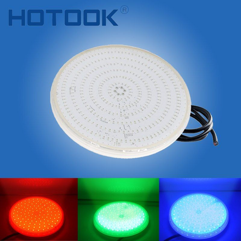 HOTOOK Underwater Lights PAR56 RGB LED Swimming Pool Light Resin Filled Piscina Wall Mounted FocoPool Lamp 12V IP68 18W 42W Pond