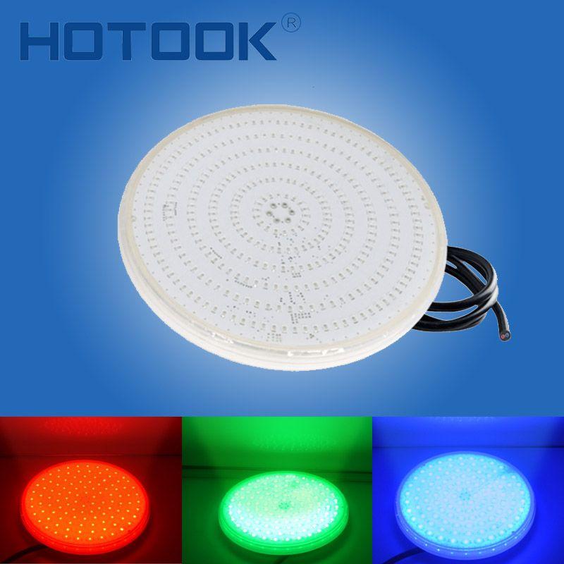 HOTOOK Underwater Lights PAR56 RGB LED Swimming Pool Light Resin Filled Piscina Wall Mounted FocoPool Lamp 12V IP68 18W 42W Pond