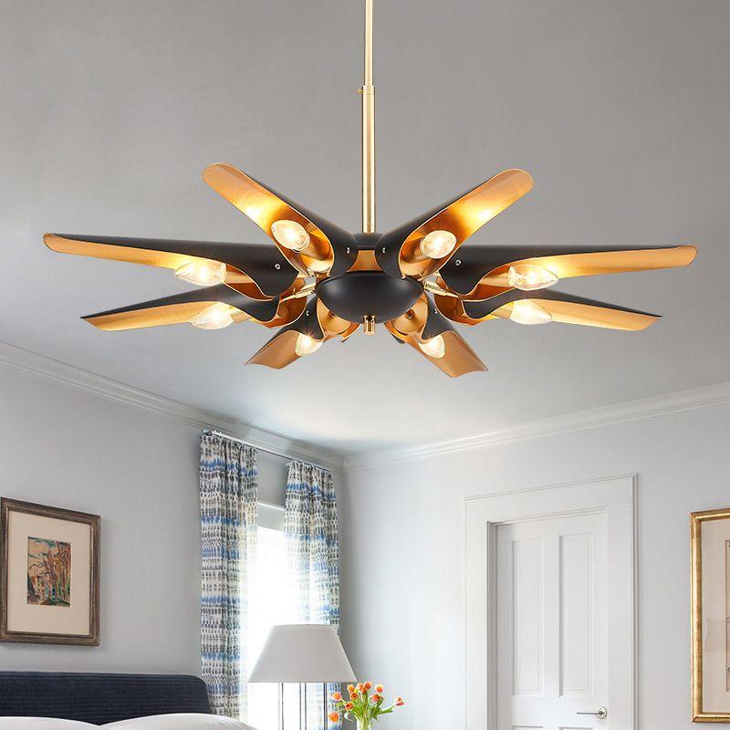 Modern LED pendant chandelier aluminum shade E14 Art decor home lighting chandeliers living room bedroom loft hanging lights