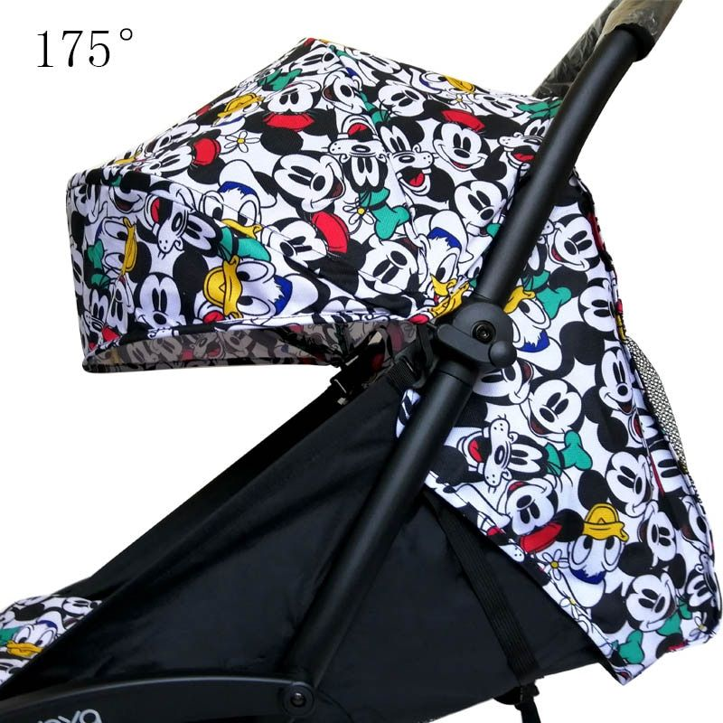 Stroller Hood & Mattress For 175 Yoya Baby Throne Oxford Cloth Back With Mesh Pockets Yoya Stroller Accessories Cushion For Yoyo