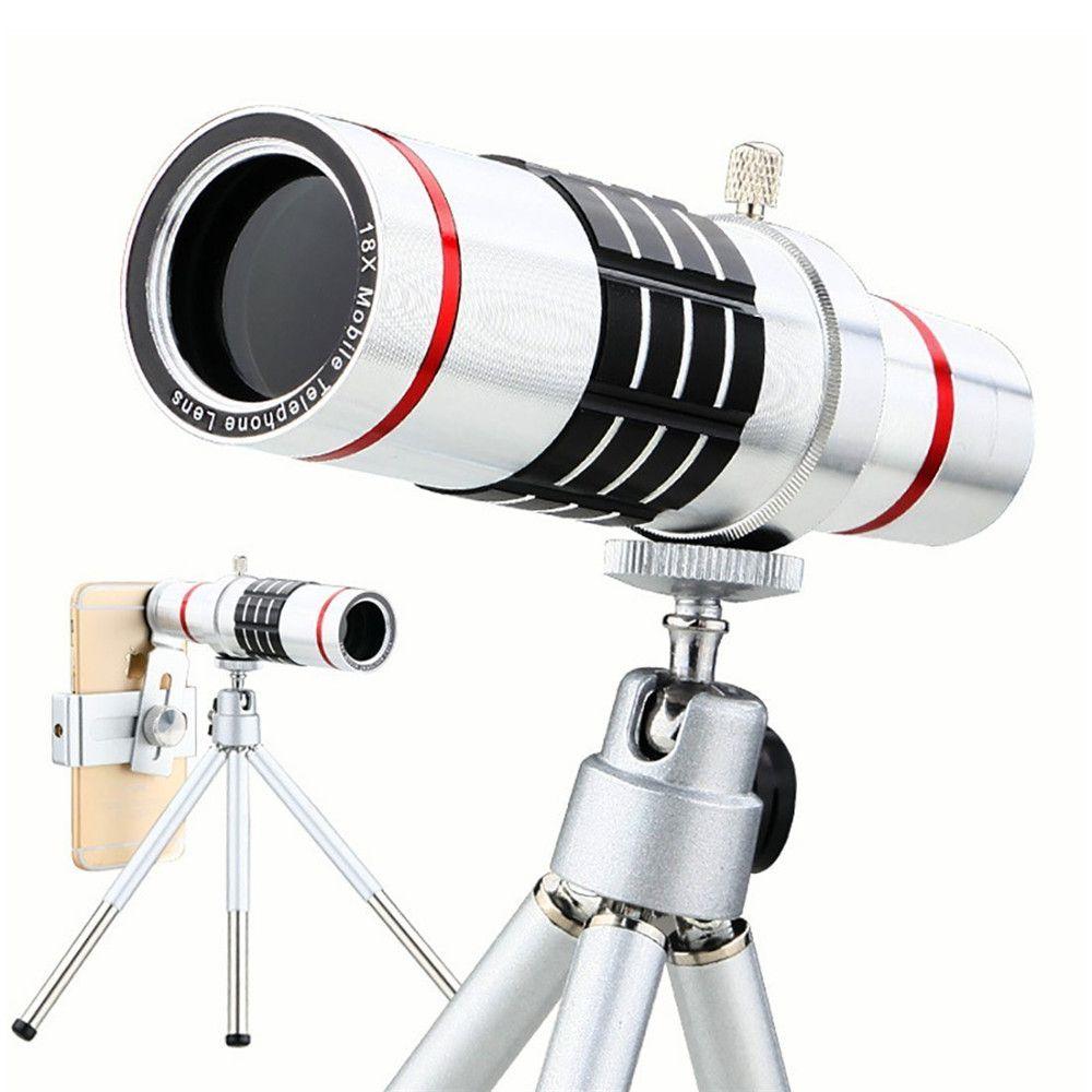 KRY 18x lentes Universal Zoom Kamera Telefon Objektiv Optische Teleskop Tele linsen Stativ Für iPhone 5 s objektiv 6 6 s 7 Plus Objektiv