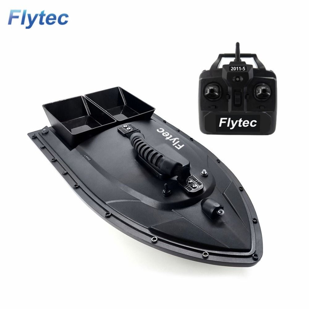 Flytec 2011-5 Fishing Tool Smart RC Bait Boat Toy Dual Motor Fish Finder Fish Boat Remote Control Fishing Boat Ship Boat