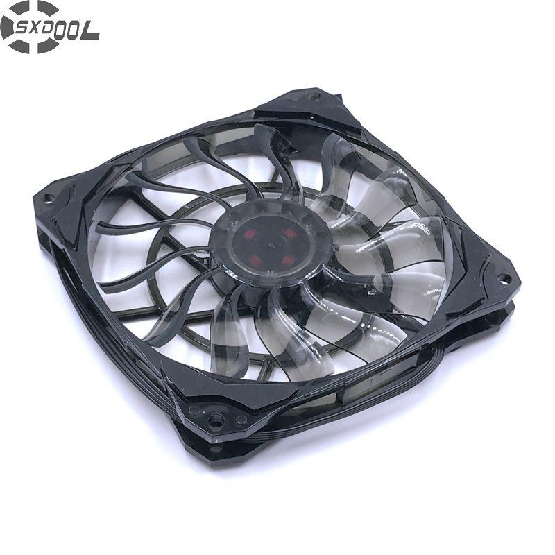 SXDOOL mince épaisseur 15mm, meilleur pour petit boîtier, grand flux d'air De 53.6CFM 120mm PWM ventilateur contrôlé avec caoutchouc De vibration