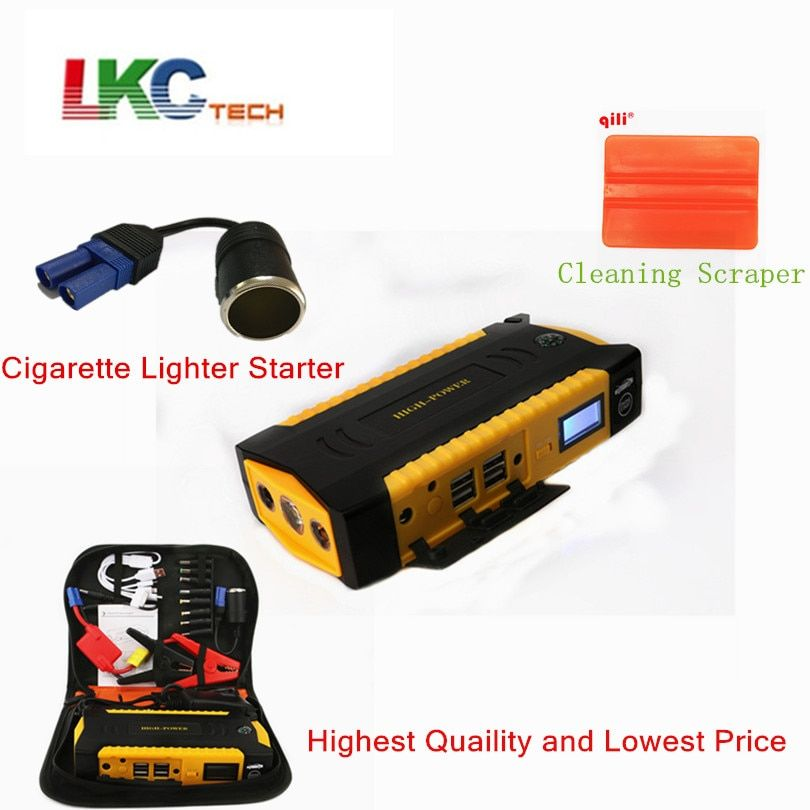 Best Car Jump Starter 16000mAh High Power Portable Car Charger for Petrol/Diesel Car Starter Car Emergency Auto Battery Booster