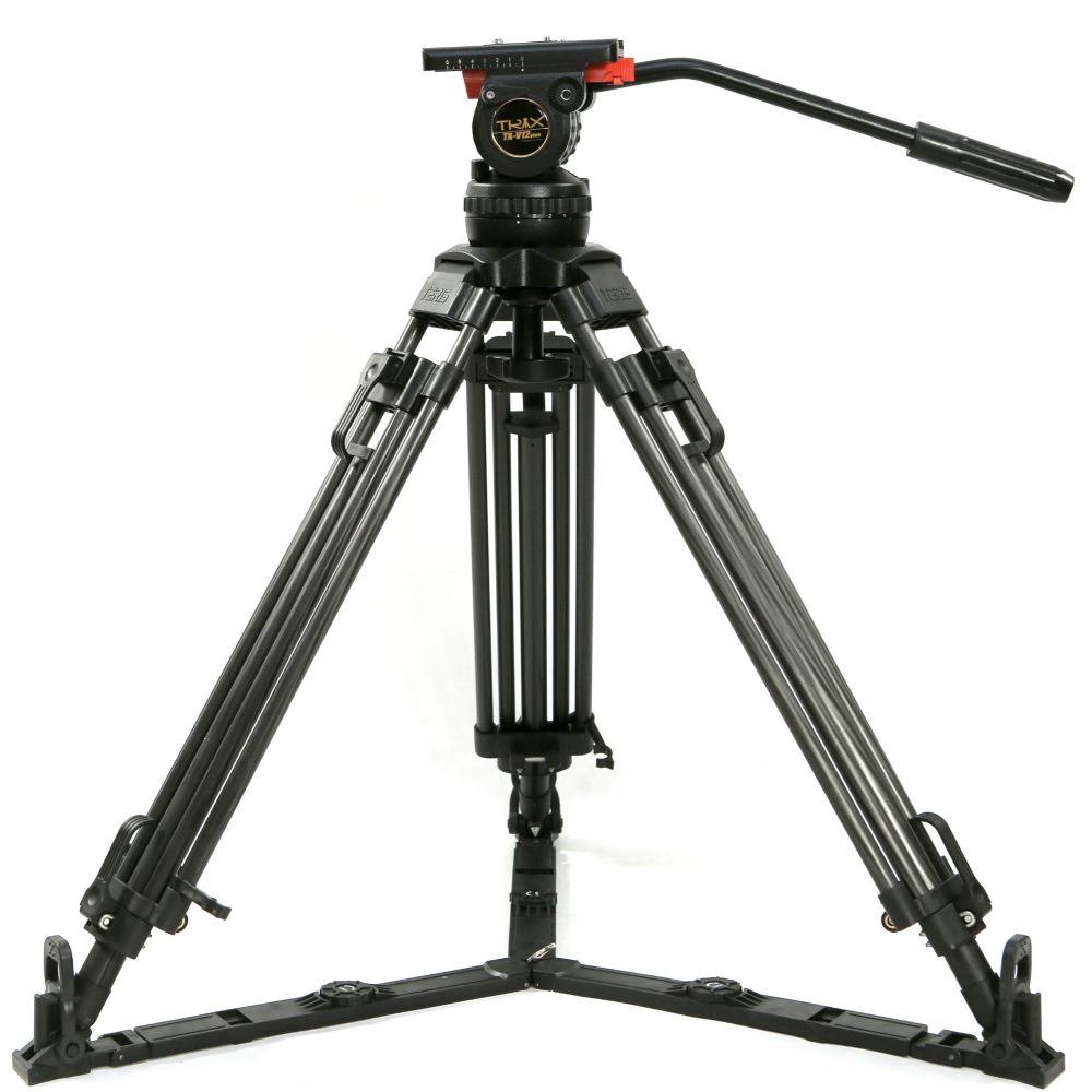 TERIS 65 V12T Berufs Carbon Stativ Video Kamera Stativ w/Flüssigkeit Kopf Last 12 kg für TILTA rig Red Scarlet Epic FS700