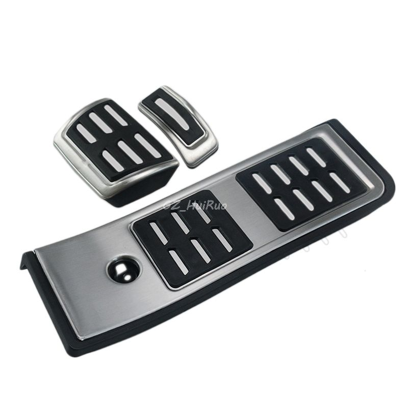 For Audi A4 B9 A5 F5 2016 2017 AT Sedan Avant Sport Automatic High Quality Stainless Steel Fuel Brake Footrest Pedal Cover