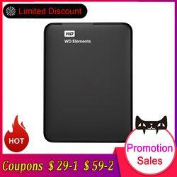 Western Digital HDD Hard Disk WD Elements 1TB 2TB 2.5
