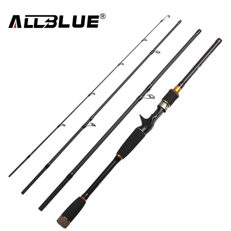 <font><b>ALLBLUE</b></font> 2018 New Fishing Rod Spinning Casting Rod 99% Carbon Fiber Telescopic 2.1M 2.4M 2.7M Fishing Travel Rod Tackle peche