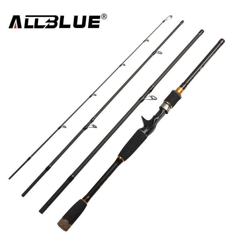 ALLBLUE 2018 New Fishing Rod Spinning Casting Rod 99% Carbon Fiber Telescopic 2.1M 2.4M 2.7M Fishing Travel Rod Tackle peche