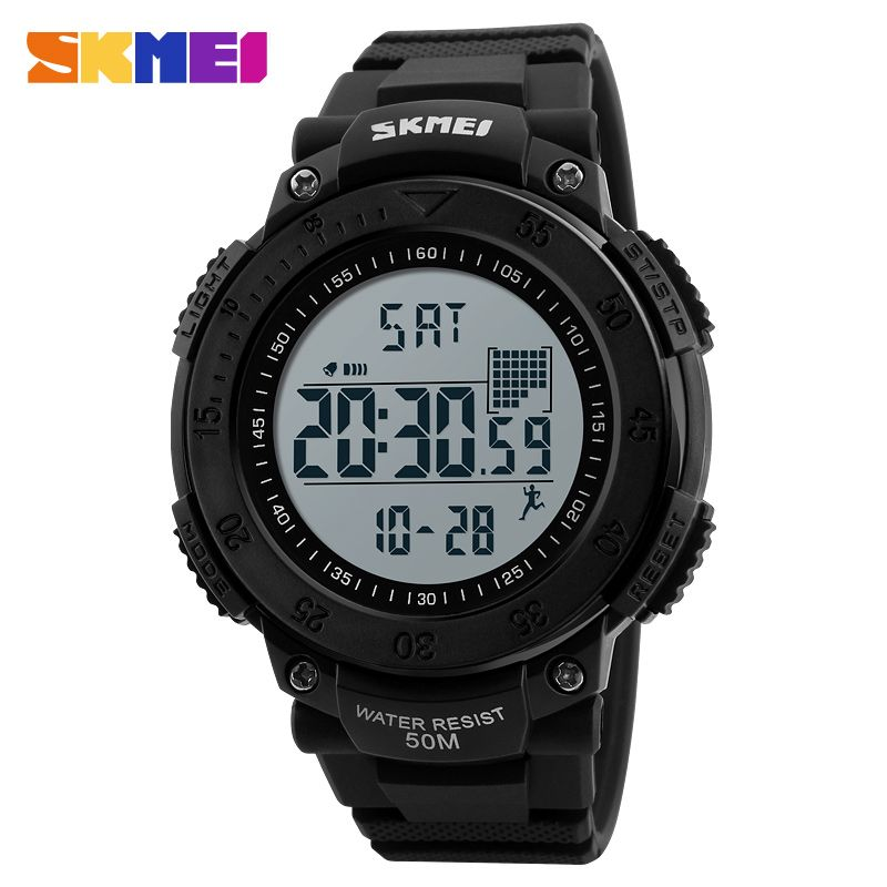 SKMEI Brand Digital Watch Men Pedometer 3D Multifunctional Sports Watches Relojes Waterproof Relogio Masculino Wristwatches 1238