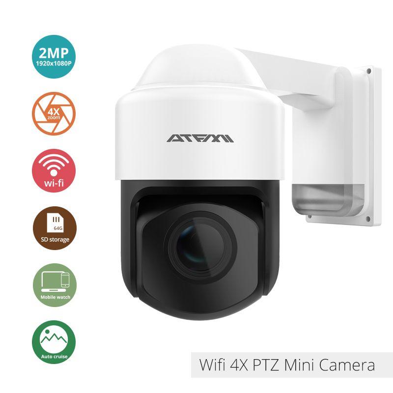 ATFMI 1080P 2MP IP Camera ptz Outdoor surveillance 2.8-12mm Auto-focus Waterproof Night Vision Wireless Security wifi onvif
