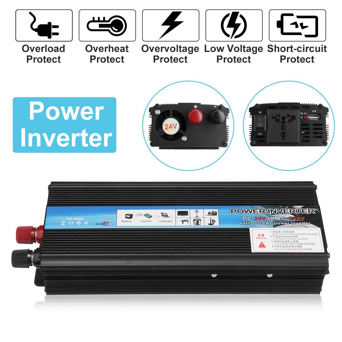 Inverter 12V 220V 2000W 1000W 600W Peak Power Voltage Transformer Converter DC 12V To AC 220V Sine Wave Solar Inverter