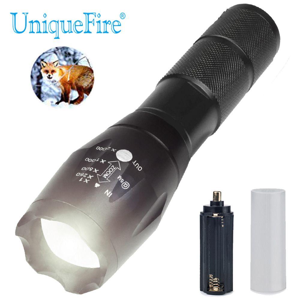 UniqueFire BTC-03 XM-L2 20000 Lumen 5 Modes Zoomable puissant Led mise à niveau lampe de poche réglable lentille lampe torche pour le Camping