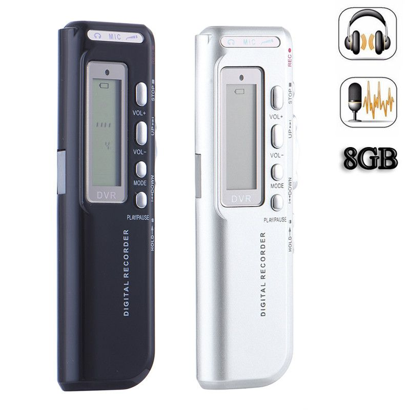 Portable Black 8G USB Digital Audio Voice Recorder Long working time Recorder high definition Mini MP3 Voice Recording pen CE149