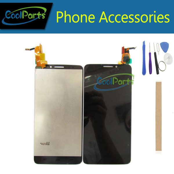1PC/Lot For Alcatel One Touch Idol X OT 6040 6040A 6040D 6040X OT6040 LCD Display+Touch Screen Assembly Black Colo+Tape&Tool
