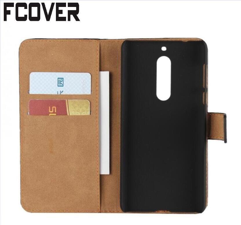 Pour Nokia 6 Portefeuille Cas, Véritable Style Book Stand Étui En Cuir Carte de Couverture De Chiquenaude Pour Nokia 3/Nokia 5 Cas