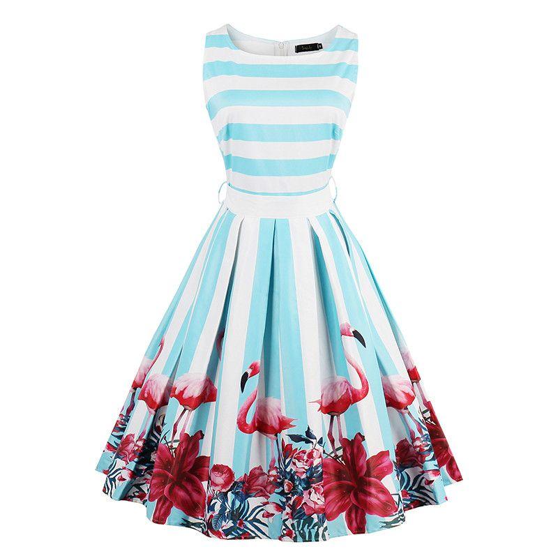 Sisjuly Femmes D'été Bleu Clair Robe vêtements pour femmes Vert Genou-Longueur robe femme Sans Manches A-ligne robe pour filles