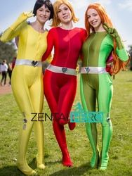 ZentaiHero Sexy Femmes/Dame/Fille Totally Spies Base Costume Lycra Spandex Superhero Zentai Catsuits Cosplay Costume 5 Couleur 17041101