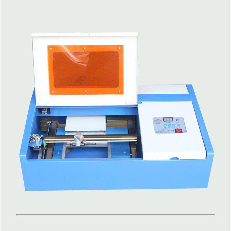 Freies verschiffen zu Indonesien mini 40 W 3020 CO2 laser engraivng maschine 300x200mm