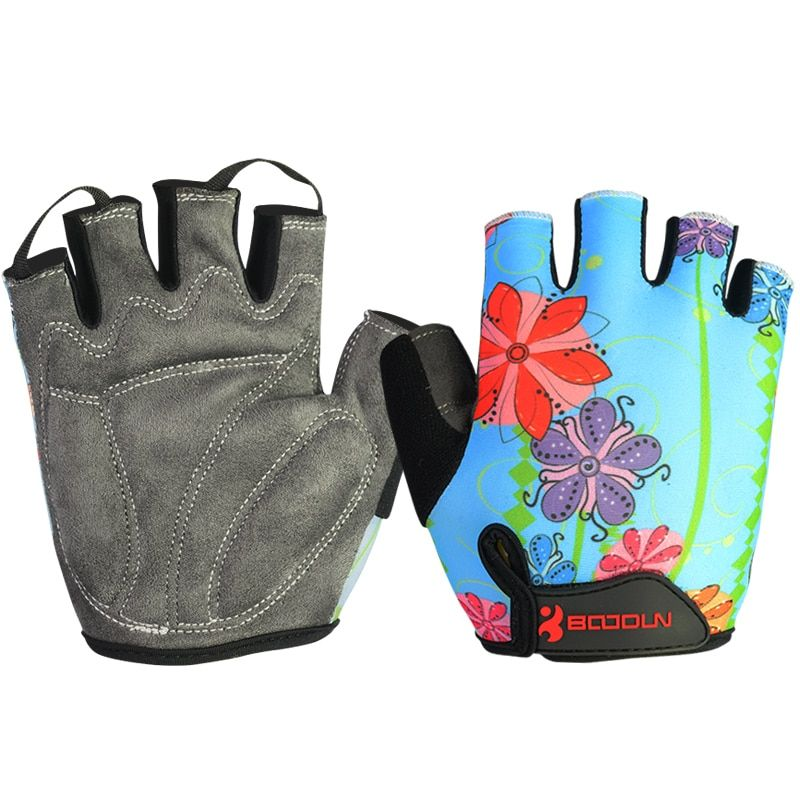 Free Shipping Fitness Gloves Breathable Outdoor Mountain Bike Special Gloves Sport Gloves for chindren Flower color
