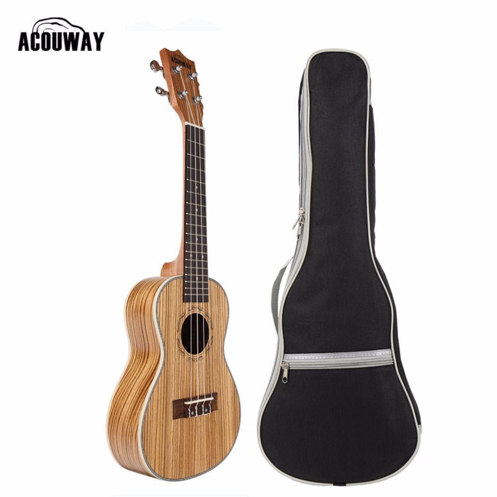 Acouway Ukulele Soprano Concert Ukulele 21 23 inch Zebra uku Ukelele with ABS binding Hawaii guitar Stringed Musical Instrument