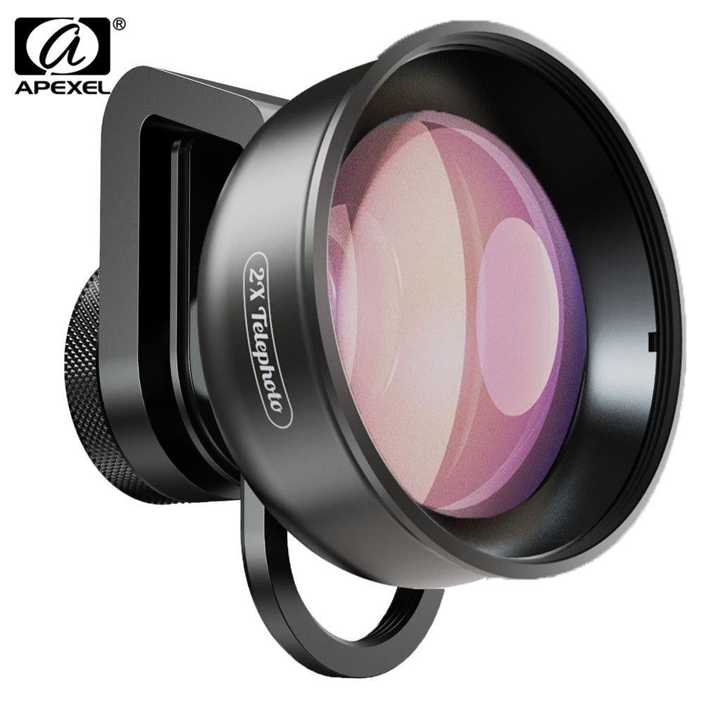 APEXEL HD 2X téléobjectif Zoom téléphone caméra objectif 4K télescope avec filtre CPL étoile pour Huawei Samsung iPhone tous Smartphone