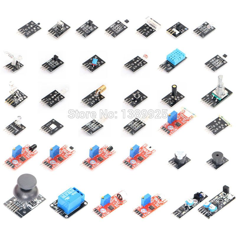 37 IN 1 SENSOR KITS FOR ARDUINO HIGH-QUALITY FREE SHIPPING (Works with Official for Arduino Boards)