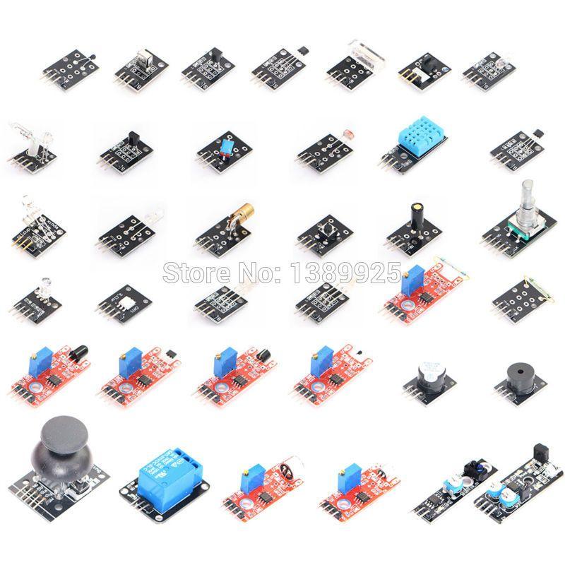KITS de capteurs 37 en 1 pour ARDUINO livraison gratuite de haute qualité (fonctionne avec officiel pour les cartes Arduino)