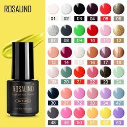ROSALIND гель лак для ногтей 7мл гель для наращивания ногтей маникюр гель лаки дизайн ногтей ногти масло для кутикулы набор гель лаков все для ма...
