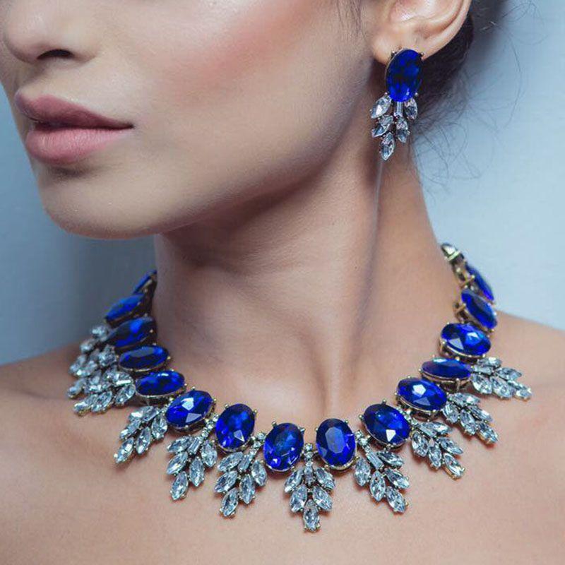 Meilleure dame nouveau Maxi strass bavoir Collier Femme perles Collier Chokers pendentif déclaration Collier pour femmes Choker bijoux 3512
