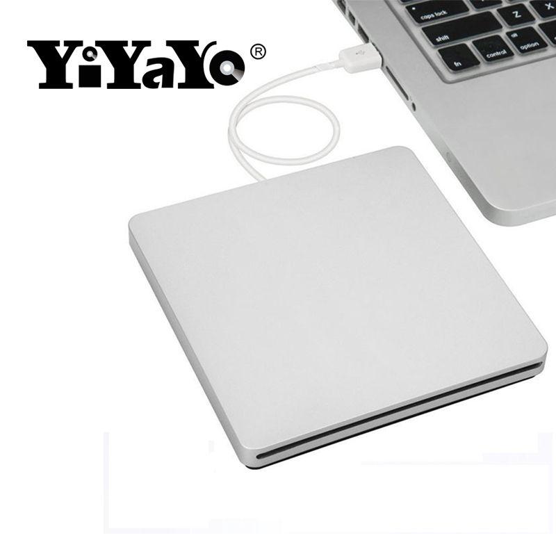 YiYaYo External USB 2.0 CD/DVD Burner DVD-ROM Optical Drive player Slot Loading Portatil for Windows 7/8/10 MAC Notebook Driver