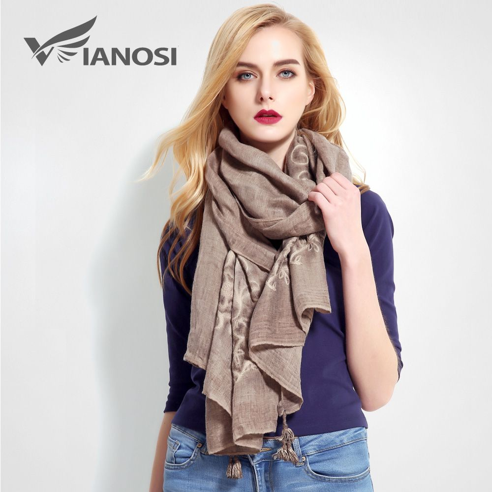 [VIANOSI] Fashion Bandana Luxury Cachecol Brand Cotton Scarf Women Shawl High Quality Stitch Scarf Shawl VR013