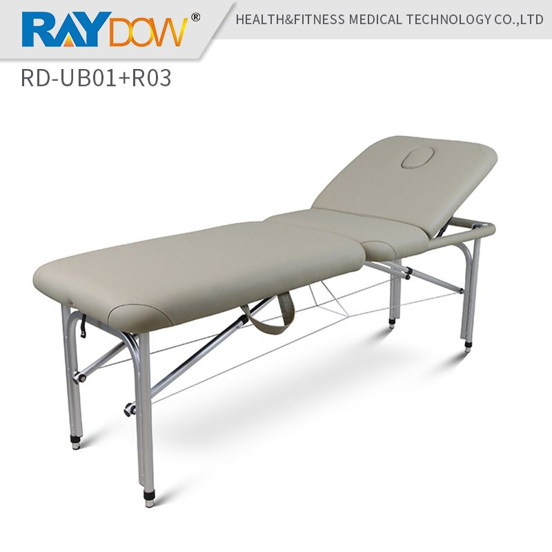 RD-UB01+R03 Raydow  Portable folding  aluminum massage bed dental hospital home tattoo furniture bed