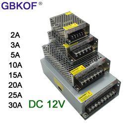 DC 12 v LED D'alimentation du pilote de bande Adaptateur 1A 2A 3A 5A 10A 15A 20A Interrupteur D'alimentation AC110V-220V 24 v Transformateur Puissance 60 w 78 w 120 w