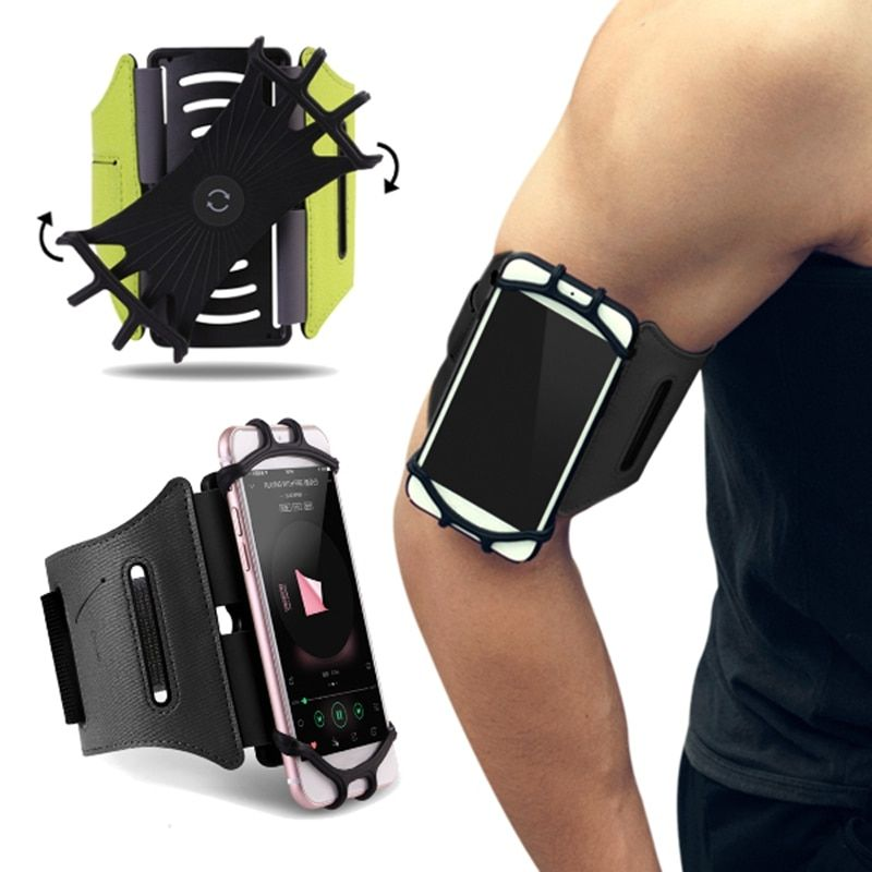 ROCK 180 Rotation Sport Phone Armband Waterproof Running Arm Case Bag Belt Key Holder Pouch for Samsung For iPhone 7 4~6 Inch
