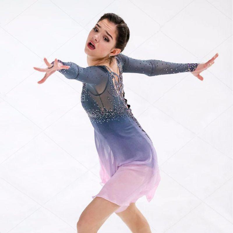 Customization Eiskunstlauf Kleider Spandex Farbe Kann Gewählt Werden Durch Selbst Graceful Eislaufen Kleider Für Wettbewerb